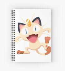 Meowth Pokemon Simple No Borders Spiral Notebook