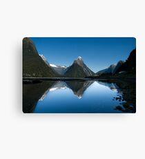 Mitre Peak, Milford Sound, New Zealand Canvas Print