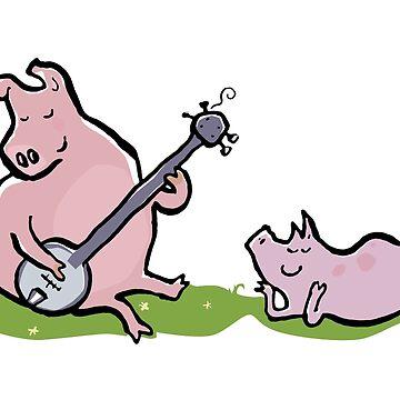 musical pigs by greendeer