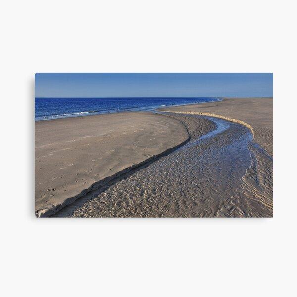 A small stream at the beach Canvas Print