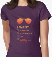 I want to... make a supersonic man outta you Women's Fitted T-Shirt