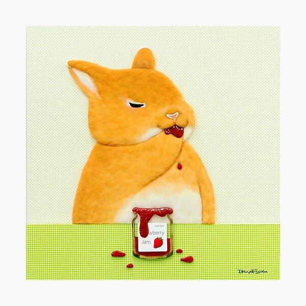 strawberry jam II (2016) Rabbit / Bunny Art Photographic Print