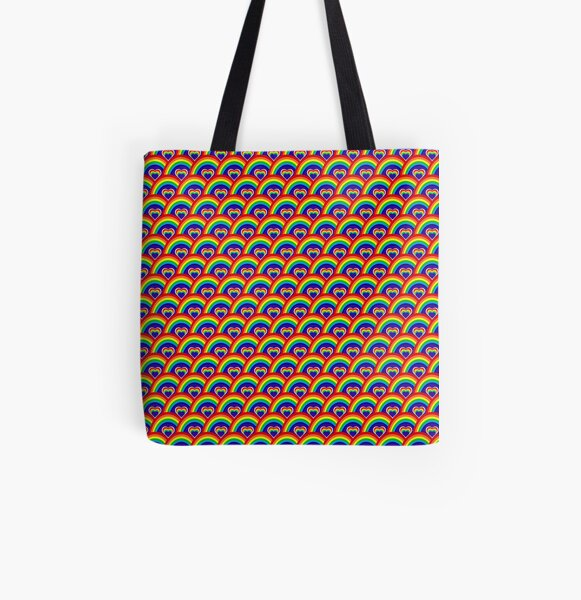 Rainbow All Over Print Tote Bag