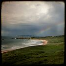 Rainbow over Whitepark Bay by Laura Johnson