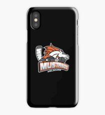 Melbourne Mustangs Classic White Logo iPhone Case/Skin