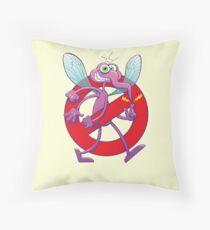 Forbidden mischievous mosquito sign Throw Pillow