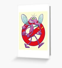 Forbidden mischievous mosquito sign Greeting Card