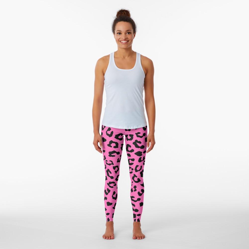 Pink Cheetah Skin Print Leggings