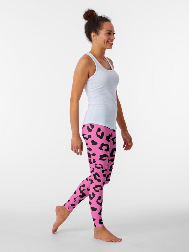 Alternate view of Pink Cheetah Skin Print Leggings