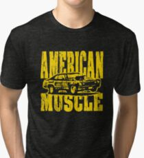 american muscle car yank tank americana mopar race hot rod custom Tri-blend T-Shirt