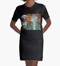 Midnight Transfer Graphic T-Shirt Dress