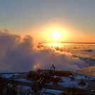 Sunrise Over Niagara Falls In Winter by mcworldent