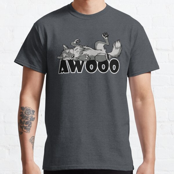 Lazy AWOO feral wolf Classic T-Shirt