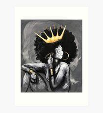Naturally Queen V Art Print