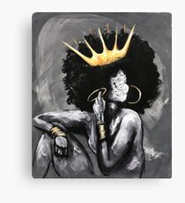 Naturally Queen V Canvas Print