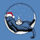 Christmas Cat by . VectorInk