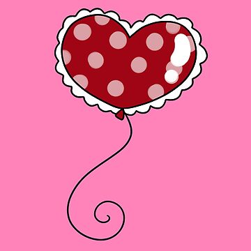 Polk-a-dot Heart Balloon by SaradaBoru