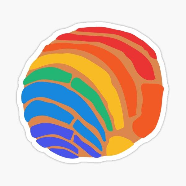 Rainbow Concha Pan Dulce Sticker