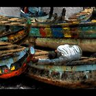 End of the Day at Tema Harbor by Wayne King