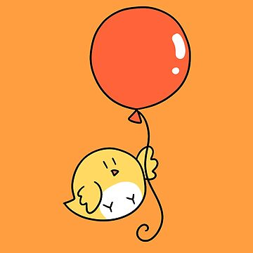 Orange Balloon Yellow Bird by SaradaBoru