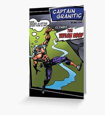 Capt Granitic Comic Panel 02 Greeting Card