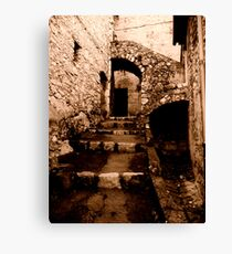 Characteristic Stairs Canvas Print