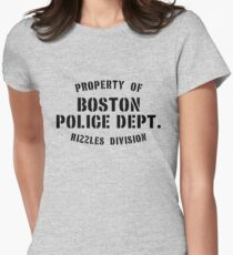 Property of Boston Police Dept. Rizzles Div. Women's Fitted T-Shirt