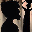 Afrikanische Frau Silhouette von Love Art Wonders by GOD