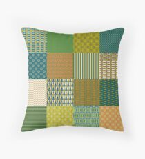 Cojín de suelo Earth Colors Abstract Patterns Faux Patchwork