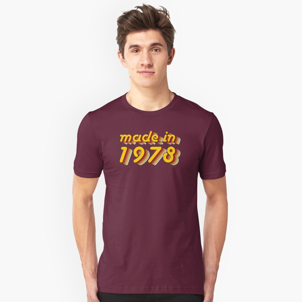 Made in 1978 (Yellow&Red) Unisex T-Shirt Front