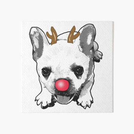Puppies Love Christmas  Art Board Print