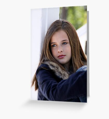 Young Model III Greeting Card