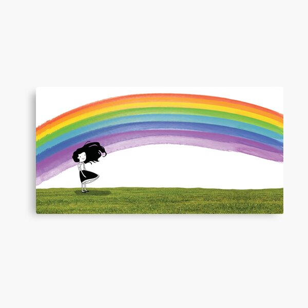 Dear Girl Rainbow Canvas Print