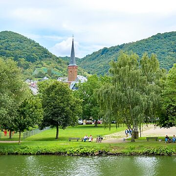 Church On The Rhine River, Germany by KayBrewer
