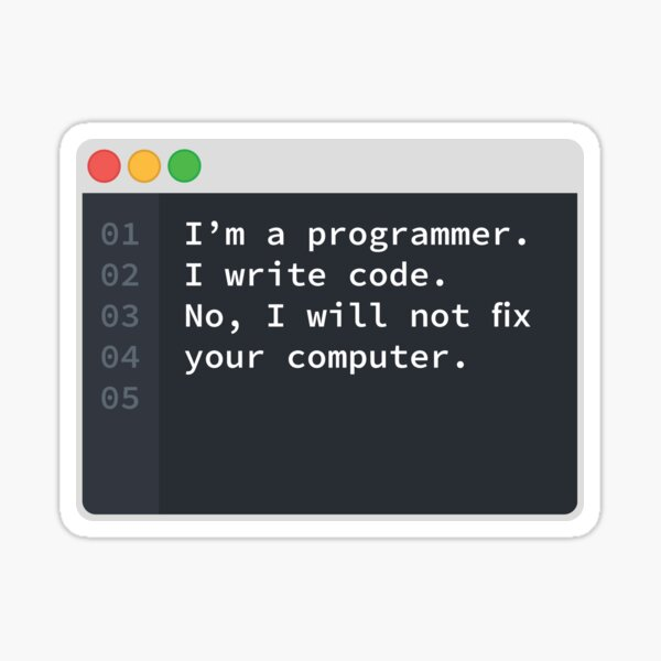 Je suis un programmeur Sticker