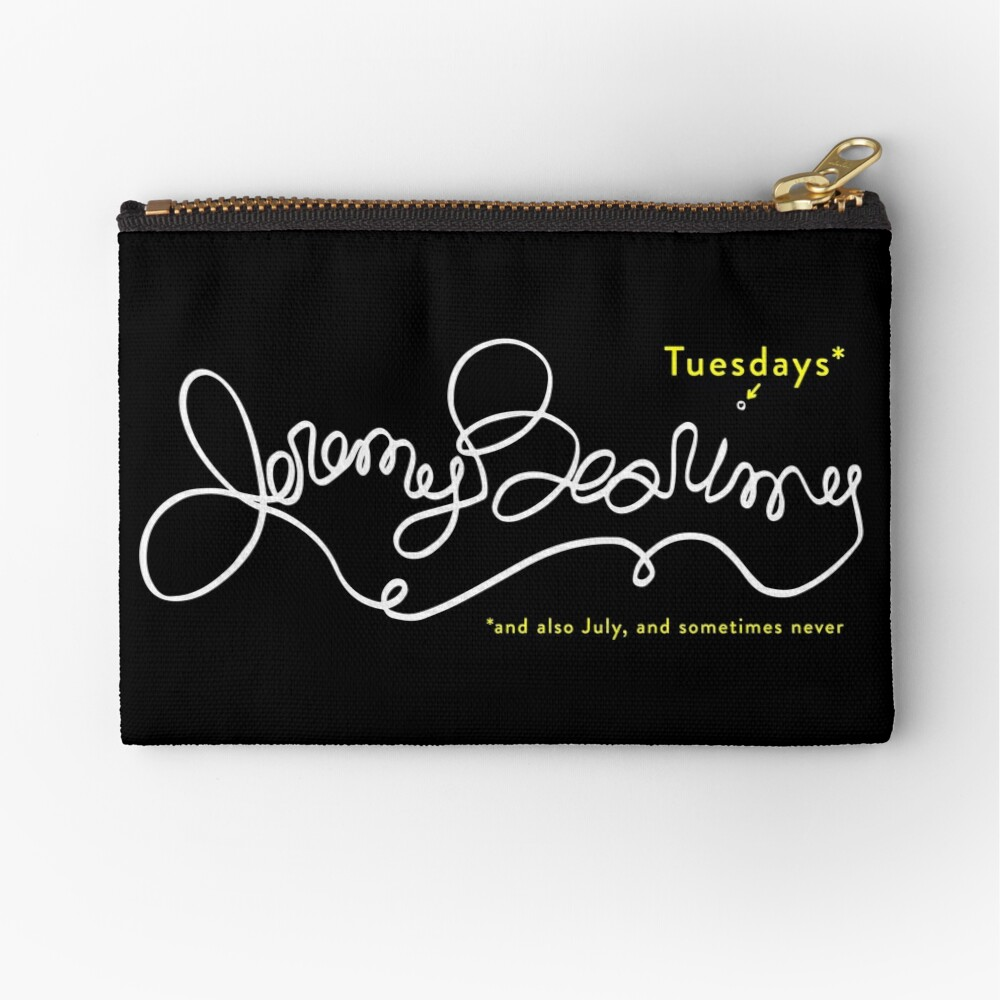 Jeremy Bearimy in white (with notation) Zipper Pouch
