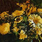Gerberas  after Van Gogh by Gilberte
