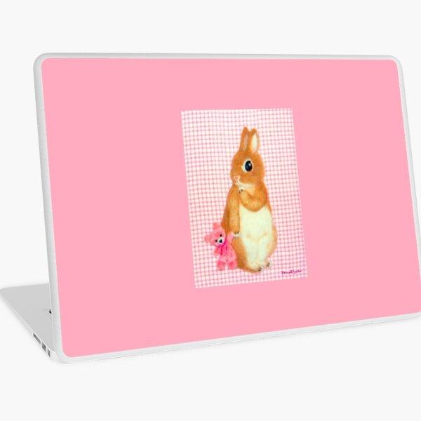 with my tiny friend (2013) Rabbit / Bunny Art Laptop Skin