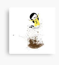 Dear Girl - Mud Puddle Canvas Print