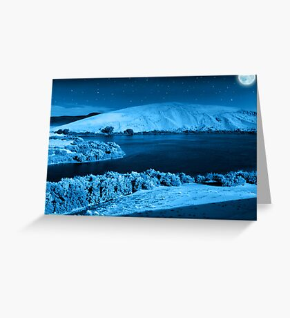 At night....Its a beautiful place... Greeting Card