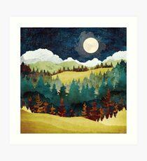 Lámina artística Luna de otoño