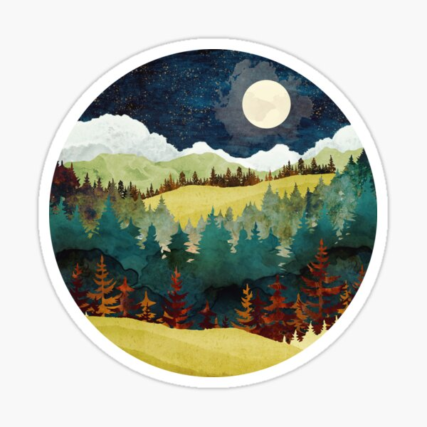 Autumn Moon Sticker