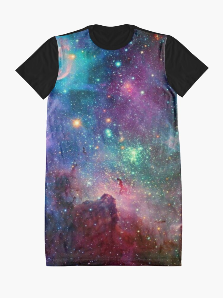 Alternate view of Galaxy Graphic T-Shirt Dress