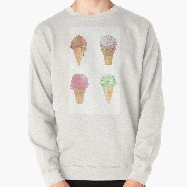 Four Ice Cream Cones Pullover Sweatshirt