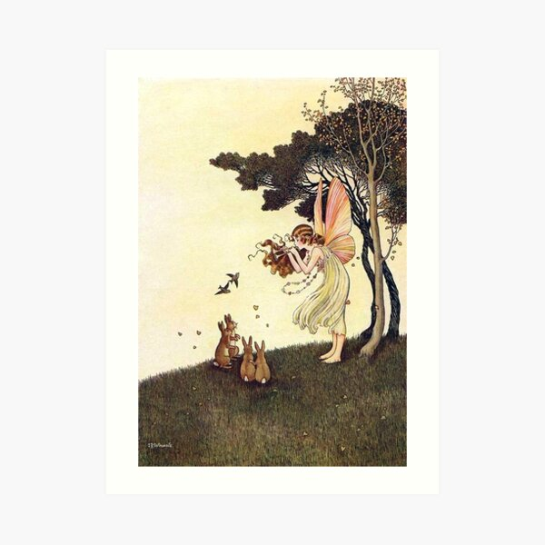 Anne Playing the Pipes - Ida Rentoul Outhwaite Art Print