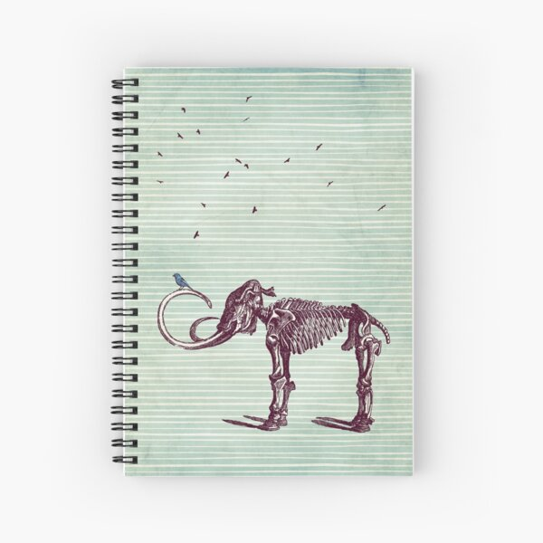 Mammoth and the birds Spiral Notebook