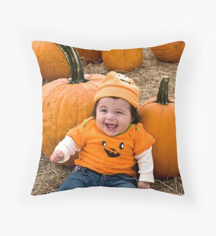 Laughing Baby Throw Pillow