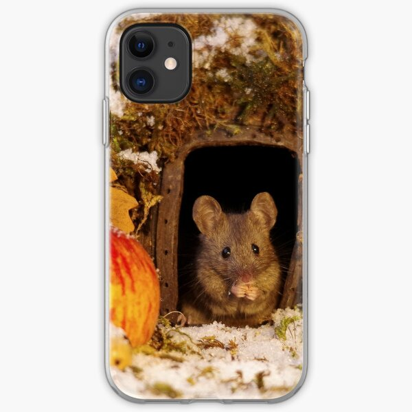 wild mouse feeling the cold  iPhone Soft Case