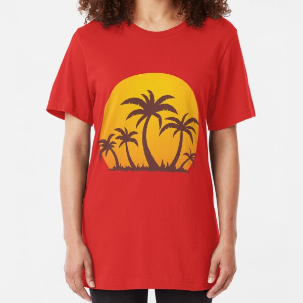 Palm Trees and Sun Slim Fit T-Shirt