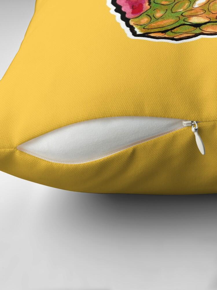 Alternate view of Crunchy Monster Throw Pillow